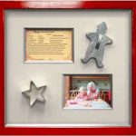 Cookie recipe, cookie cutters, and snapshot of grandmother and granddaughter making cookies in professional picture framing